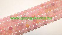 Rózsakvarc (színes) Ásványgyöngy Gyöngyfüzér 8mm