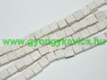 Szintetikus Fehér Kocka Lávakő Ásványgyöngy Gyöngyfüzér 8x8mm