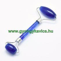 Szintetikus kék Kvarc Ezüst Színű Masszázs Henger, Masszírozó Görgő