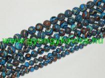 Szintetikus Kék Malachit Ásványgyöngy 10mm