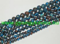 Szintetikus Kék Malachit Ásványgyöngy Gyöngyfüzér 6mm