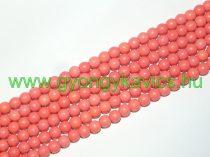 Szintetikus Rózsaszín Korall Gyöngy Gyöngyfüzér 6mm