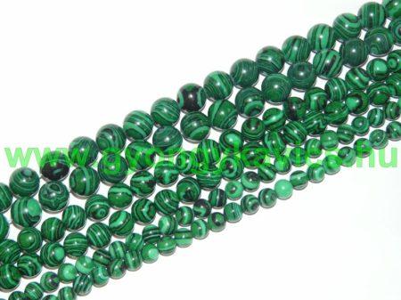 Szintetikus Zöld Malachit Ásványgyöngy Gyöngyfüzér 10mm