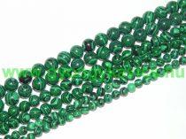 Szintetikus Zöld Malachit Ásványgyöngy Gyöngyfüzér 6mm