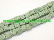 Szintetikus Zöld Kocka Lávakő Ásványgyöngy 8x8mm