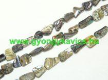 Szivárványos Kagyló Gyöngy Gyöngyfüzér 10-16x6-9x4-6mm