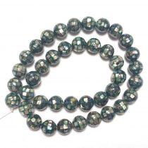 Szivárványos Abalone Paua Kagyló Mozaik Gyöngy 10mm