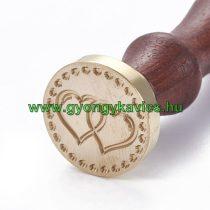 Szív (2) Viaszpecsétnyomó Pecsét Pecsételő 25,5mm