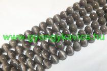 Szürke Macskaszem (Üveg) (sötét) Ásványgyöngy Gyöngyfüzér 10mm