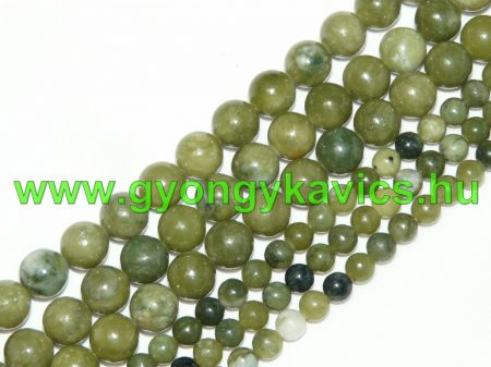 Taiwani Tajvani Zöld Jade Ásványgyöngy Gyöngyfüzér 10mm