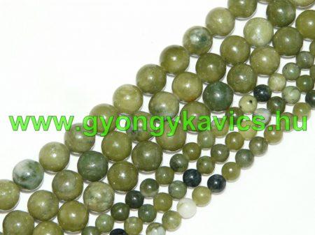 Taiwani Tajvani Zöld Jade Ásványgyöngy 10mm