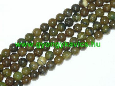 Taiwani Tajvani Zöld Jade Ásványgyöngy 8mm