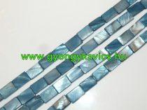 Téglalap Kék Kagyló Gyöngy Gyöngyfüzér 15 x 10mm