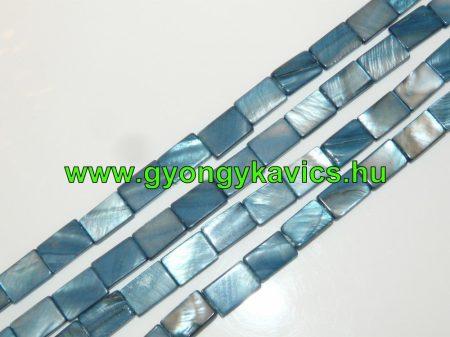 Téglalap Kék Kagyló Gyöngy Gyöngyfüzér 15x10mm