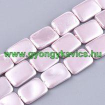 Téglalap Rózsaszín Kagyló Gyöngy Gyöngyfüzér 20x15mm