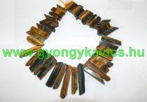 Tigrisszem Rusztikus Oszlop Ásványgyöngy Gyöngyfüzér Nyaklánc Nyakék Alap 20-65x7-15mm