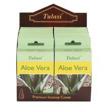 Tulasi Aloe Vera Füstölő Kúp