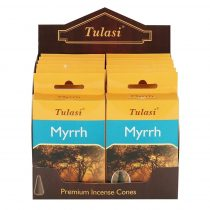 Tulasi Mirha Myrrh Füstölő Kúp