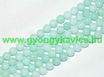 Türkiz Türkizkék Jade (világos) Ásványgyöngy 6mm
