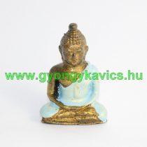 Türkizkék Arany Színű Buddha Figura Szobor