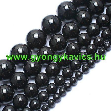 Fekete Turmalin Ásványgyöngy 6mm