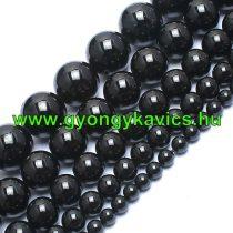 Fekete Turmalin Ásványgyöngy  10mm