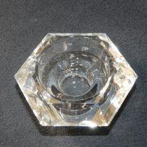 Üveg Gyertyatartó Hatszögletű 6,7x3,4cm