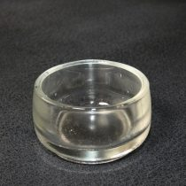 Üveg Gyertyatartó Mécsestartó Kerek 3x5,2cm