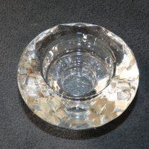 Üveg Gyertyatartó Kerek 7,3x3,6cm