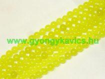 UV Sárga Jade Ásványgyöngy  8mm