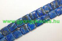 Világos Lazurit Lápisz Lazuli Kocka Ásványgyöngy Gyöngyfüzér 14x14x5mm