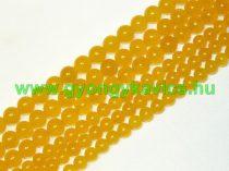 Világos Narancssárga Jade Ásványgyöngy 10mm