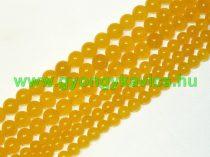 Világos Narancssárga Jade Ásványgyöngy 6mm
