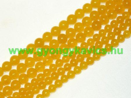 Világos Narancssárga Jade Ásványgyöngy Gyöngyfüzér 8mm