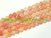 Narancssárga Tűz Achát (világos) Ásványgyöngy 10mm