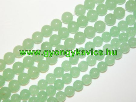 Világoszöld Menta Jade Ásványgyöngy Gyöngyfüzér 12mm