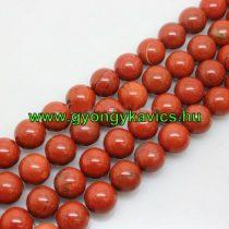 Vörös Jáspis Ásványgyöngy  10mm
