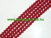 Piros Jade (nem áttetsző) Ásványgyöngy Gyöngyfüzér 10mm