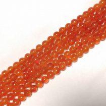 Karneol (vörös) Ásványgyöngy Gyöngyfüzér 6mm