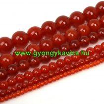 Karneol (vörös) Ásványgyöngy Gyöngyfüzér 8mm