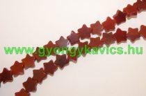 Vörös Karneol Achát Csillag Ásványgyöngy Gyöngyfüzér 8mm