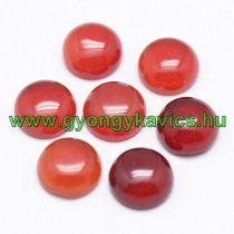 Vörös Karneol Achát Kaboson 10mm