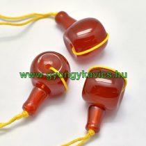 Vörös Karneol Guru Gyöngy 21x11mm