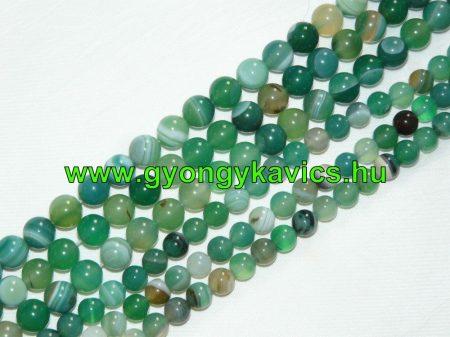 Zöld Achát Ásványgyöngy  10mm