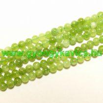 Zöld Angelit Ásványgyöngy 6mm