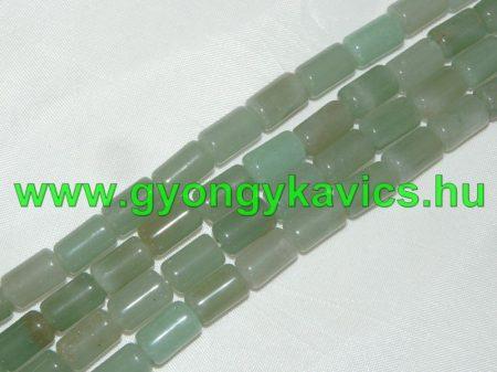 Zöld Aventurin Oszlop Ásványgyöngy 10x6mm