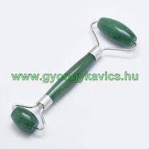 Zöld Aventurin Ezüst Színű Masszázs Henger, Masszírozó Görgő