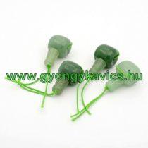 Zöld Aventurin Guru Gyöngy 22x11mm