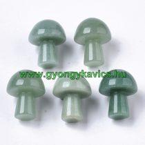 Zöld Aventurin Ásvány Masszázs Masszírozó Gomba 21x16mm
