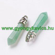 Zöld Aventurin Medál 33-40x8-9mm